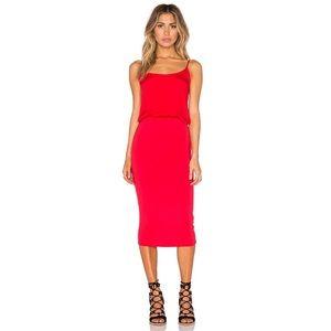 NEW YOUNG FABULOUS & BROKE ADELA RED FIRE DRESS XS